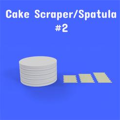 2 1.png Download STL file Cake Scraper/Spatula - Model #2 • Model to 3D print, DL3D