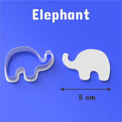 Download STL file Elephant Cookie/Fondant Cutter, DL3D