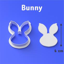 Cults 1002.png Télécharger fichier STL Bunny - Coupeuse de biscuits et de fonds • Objet pour imprimante 3D, DL3D