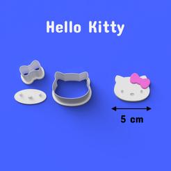 1006.png Télécharger fichier STL Hello Kitty Cookie/Fondant Cutter. • Modèle pour imprimante 3D, DL3D