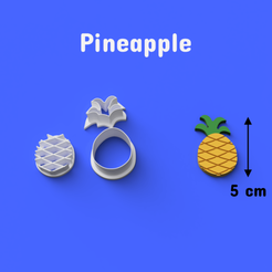 Download 3D printer model Pineapple Cookie/Fondant Cutter, DL3D
