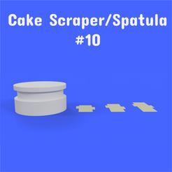 10 1.png Download STL file Cake Scraper/Spatula - Model #10 • 3D printer template, DL3D