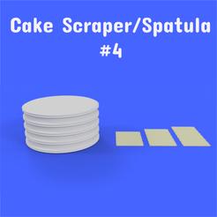 4 1.png Download STL file Cake Scraper/Spatula - Model #4 • 3D printer design, DL3D