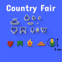 Download 3D printing designs Country Fair/June Fest Cookie/Fondant Cutter, DL3D