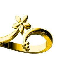 Download 3D printer templates golden leaf ring, ajijurshaikh