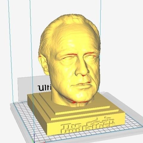 Download STL files The Godfather, Marlon Brando Sculpture, MarcArt