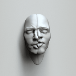 face expr4a.384.png Download STL file Kissing as one - Art piece • 3D print model, MarcArt