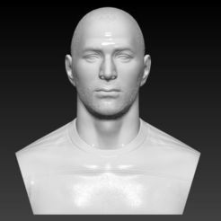 Download 3D printing designs KARIM BENZEMA BUST 3D PRINT READY, MarcArt