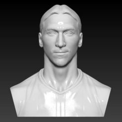 3D print files ZLATAN IBRAHIMOVIC BUST 3D PRINT READY, MarcArt
