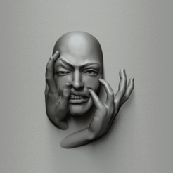 face expre 29a.422.png Download STL file Put a smile on your face - Art piece • 3D print design, MarcArt