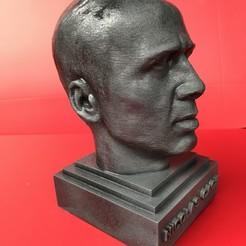 STL file Nicolas Cage sculpture 3D print ready, MarcArt