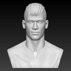 Download 3D printer designs NEYMAR JR BUST 3D PRINT READY, MarcArt