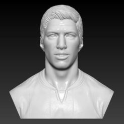 Download 3D printer model LUIS SUAREZ BUST 3D PRINT READY, MarcArt