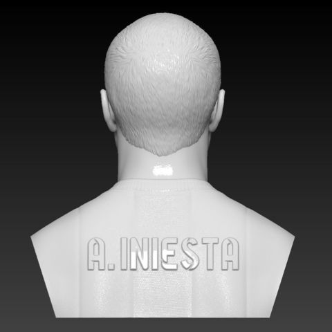 an3.jpg Download STL file ANDRES INIESTA BUST 3D PRINT READY • 3D printing object, MarcArt