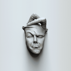 face expr11a.391.png Download STL file Face off - Art piece • 3D printable design, MarcArt