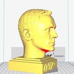 3D print model James Bond -Daniel Craig- sculpture of head- print ready, MarcArt