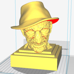 3D printing model Freddy Krueger sculpture 3D print ready, MarcArt