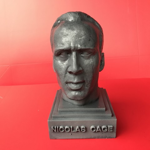 STL file Nicolas Cage sculpture 3D print ready ・ Cults   480 x 480 jpeg 32kB