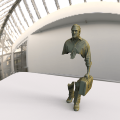 Download 3D printer designs The traveler based upon Bruno Catalano's work, MarcArt