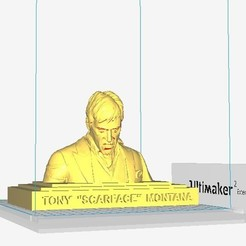 3D print model Tony Montana 'Scarface' sculpture, MarcArt