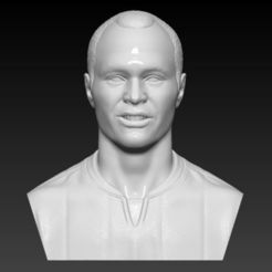 Download 3D printing designs ANDRES INIESTA BUST 3D PRINT READY, MarcArt