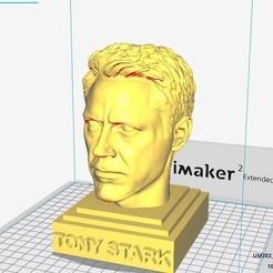 3D print model Tony Stark head sculpture - Robert Downey Jr, MarcArt