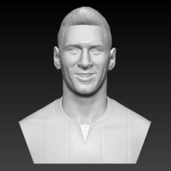 Download STL file LIONEL MESSI BUST 3D PRINT READY, MarcArt