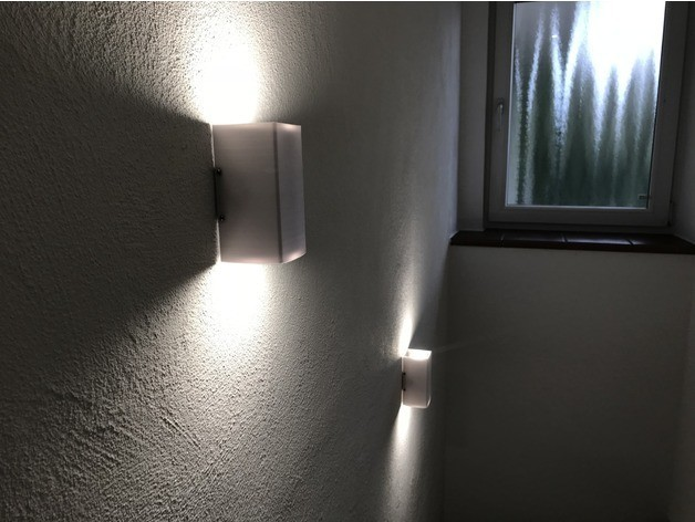 54578611656798245210940077c32ced_preview_featured-2.jpg Download free STL file Gu10 LED Wall Lamp • 3D printable design, vmi