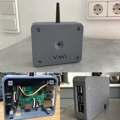 Download free 3D printing templates Raspberry Pi Case with Cam and Transmitter, vmi