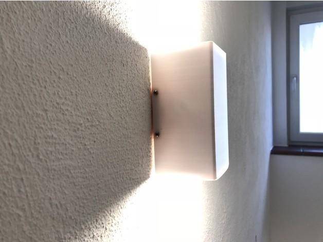 4e9d22460b2c848b12c85377089ddca5_preview_featured.jpg Download free STL file Gu10 LED Wall Lamp • 3D printable design, vmi