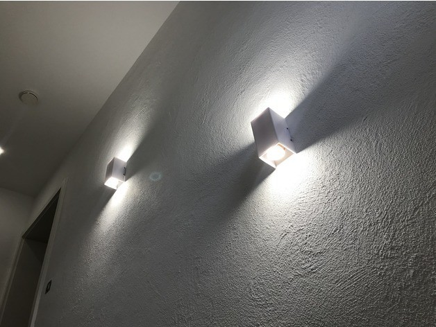 54578611656798245210940077c32ced_preview_featured-3.jpg Download free STL file Gu10 LED Wall Lamp • 3D printable design, vmi