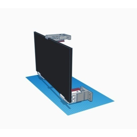 1f3aa187a85b6a3a4bf2f1737ed1fa25_preview_featured.jpg Download free STL file Double Monitor Wall Mount • Template to 3D print, vmi