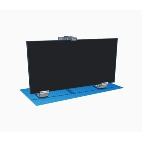ef530b2a0d3094d9b3ed0114d20f7a96_preview_featured.jpg Download free STL file Double Monitor Wall Mount • Template to 3D print, vmi