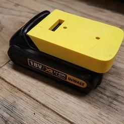 Download 3D printer designs Dewalt Battery wall mount, tigerdyr1000
