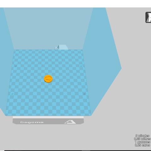jeton de caddie.png Download free STL file #MAGIGOO shopping cart token • Design to 3D print, f1l2o30