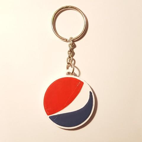 Download free 3D printing models Pepsi key ring, f1l2o30