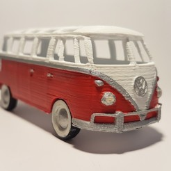 Free 3D printer designs Volkswagen Bus 1970s, florianw354