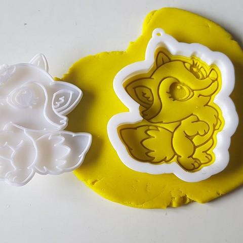 20180829_142130.jpg Download STL file Lady fox cookie cutter • 3D print model, 3dfactory