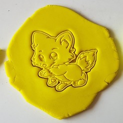 3d printer designs Cute Fox Cookie Cutter, 3dfactory