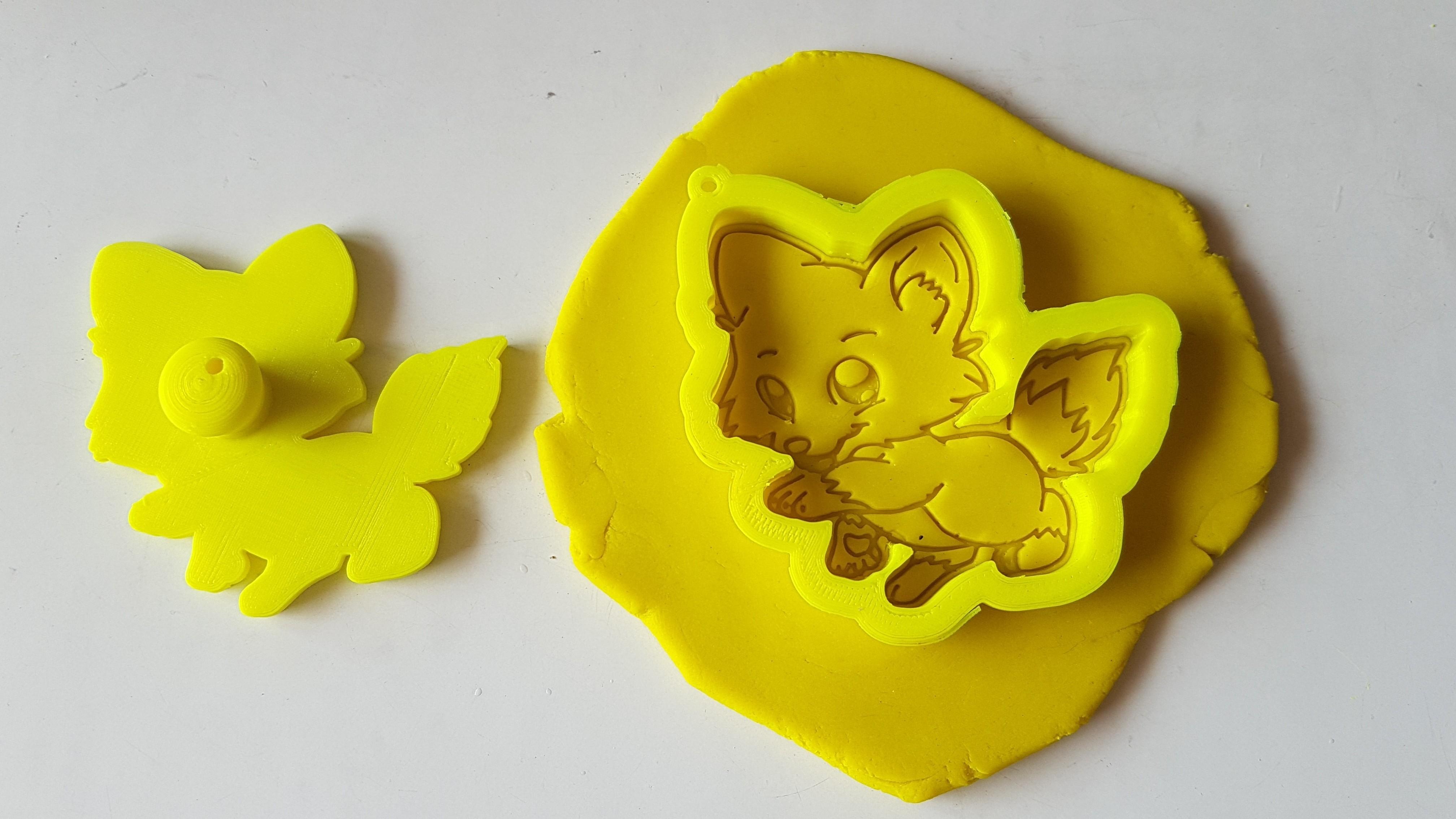 20180828_135727.jpg Download STL file Cute Fox Cookie Cutter • 3D printer template, 3dfactory