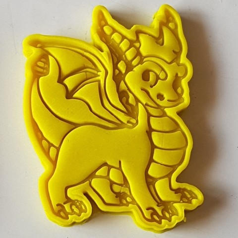 3d printer model Little dragon cookie cutter, 3dfactory
