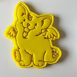 stl file Angel Unicorn Doge Cookie Cutter, 3dfactory