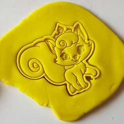 3d model Cat princess cookie cutter, 3dfactory