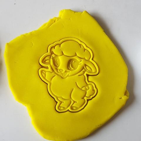 8.jpg Download STL file Baby sheep cookie cutter • 3D printable design, 3dfactory