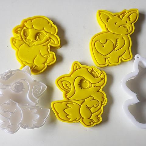 20180829_142211.jpg Download STL file Lady fox cookie cutter • 3D print model, 3dfactory