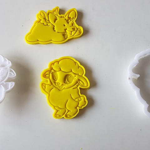 20180829_141351.jpg Download STL file Baby sheep cookie cutter • 3D printable design, 3dfactory