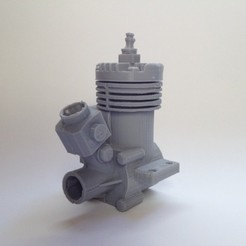 Free 3D printer files RC model engine, MaxMKA