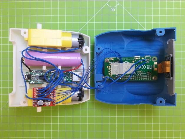 bd2c0e502fa4cf63ca491b6beb8d3c09_preview_featured.jpg Télécharger fichier STL gratuit ZeroBot - Raspberry Pi Zero FPV Robot • Design à imprimer en 3D, MaxMKA