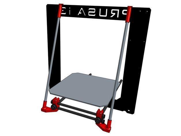 prusa_reinforce_preview_featured.jpg Download free STL file Prusa i3 frame reinforcement • 3D printer template, MaxMKA