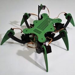 Diseños 3D Robot hexápodo Hexana para servo MG90S, AranaCorp
